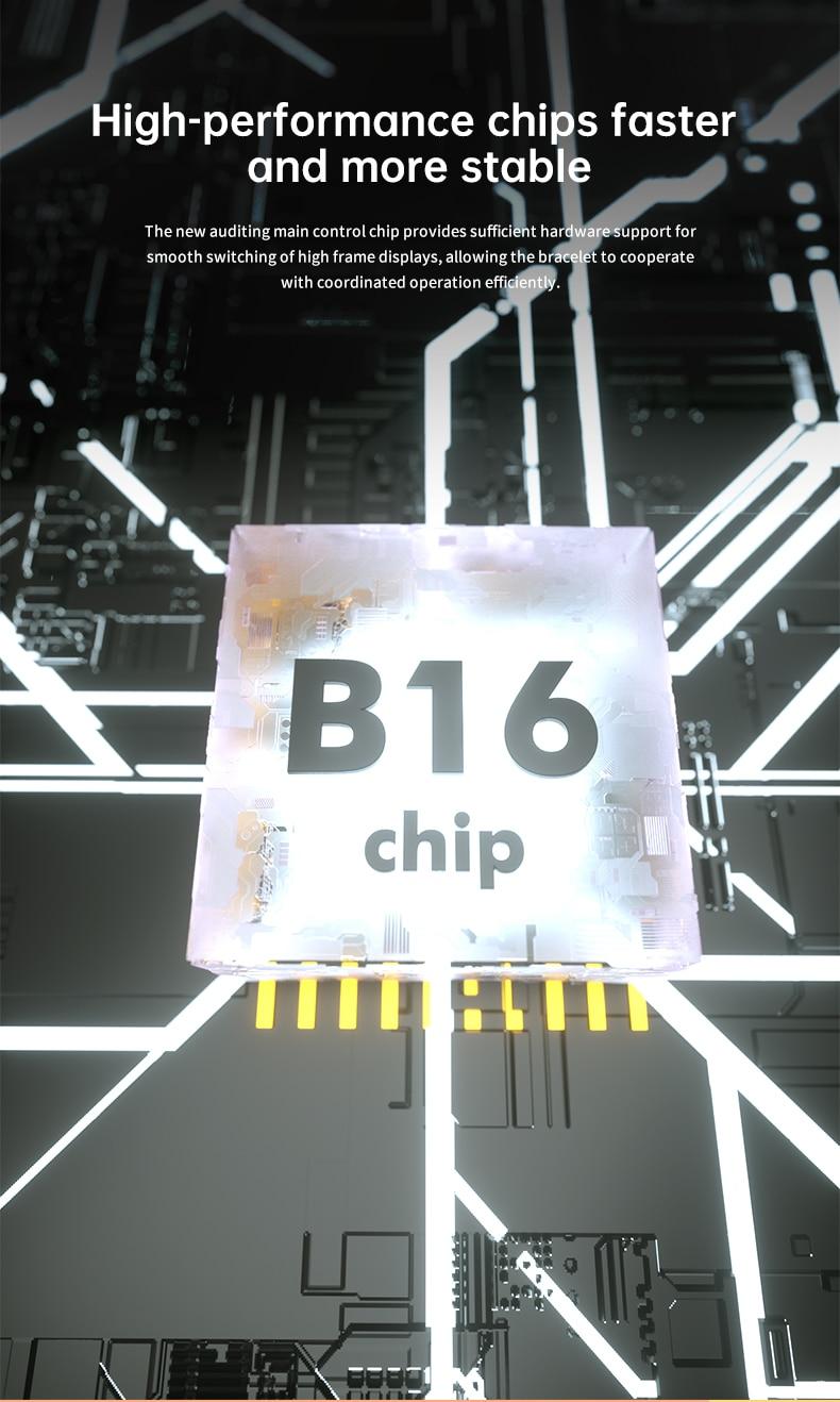 B16 aptidão rastreador pulseira relógio inteligente das