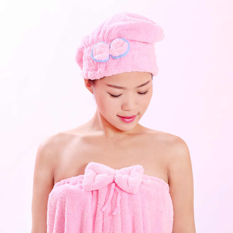 Suave microfibra sólido sombrero para el pelo de secado rápido turbante mujeres niñas señoras gorra de baño secado toalla cabeza sombrero