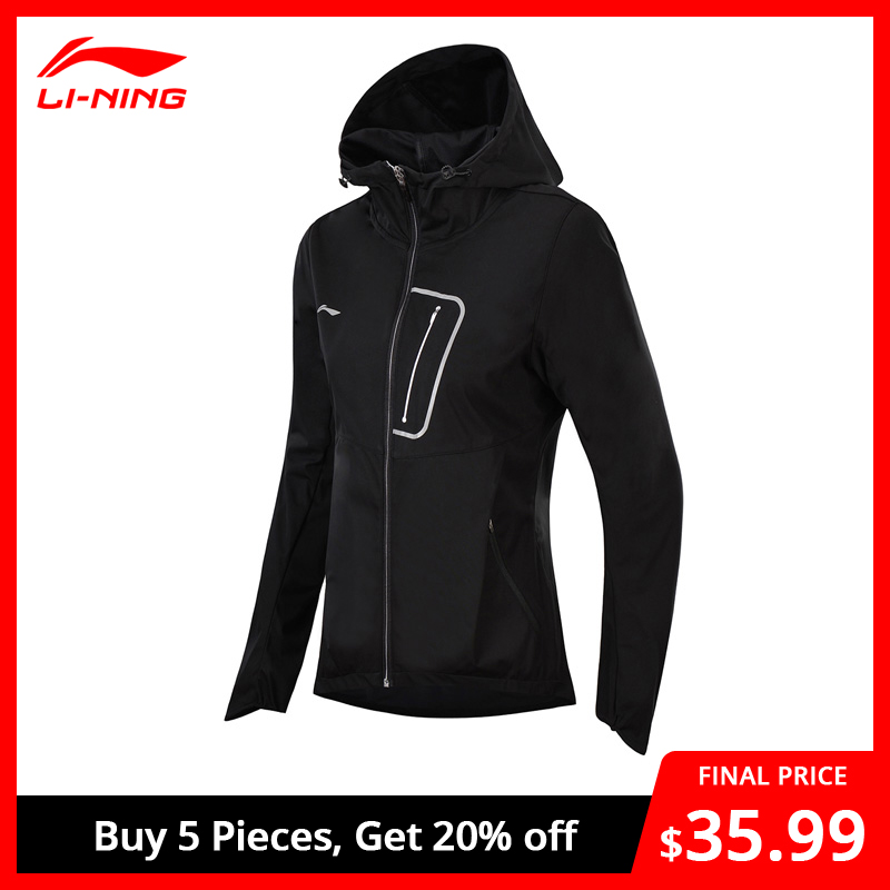 Li-Ning Women Running Windbreaker Regular Fit Polyester Comfort Jackets AT PROOF SMART Li Ning LiNing Sports Coat AFDN014 WWF900