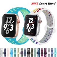 Silikon Strap Für Apple Uhr band 44mm 40mm iWatch 38mm 42mm Smartwatch armband Armband Apple Uhr 6 SE 5 4 3 Zubehör