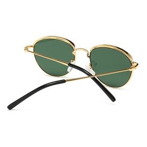 Image 4 - Peekaboo lunettes de soleil rondes rétro pour hommes et femmes, monture métallique, monture estivale, vert, noir, uv400 2020
