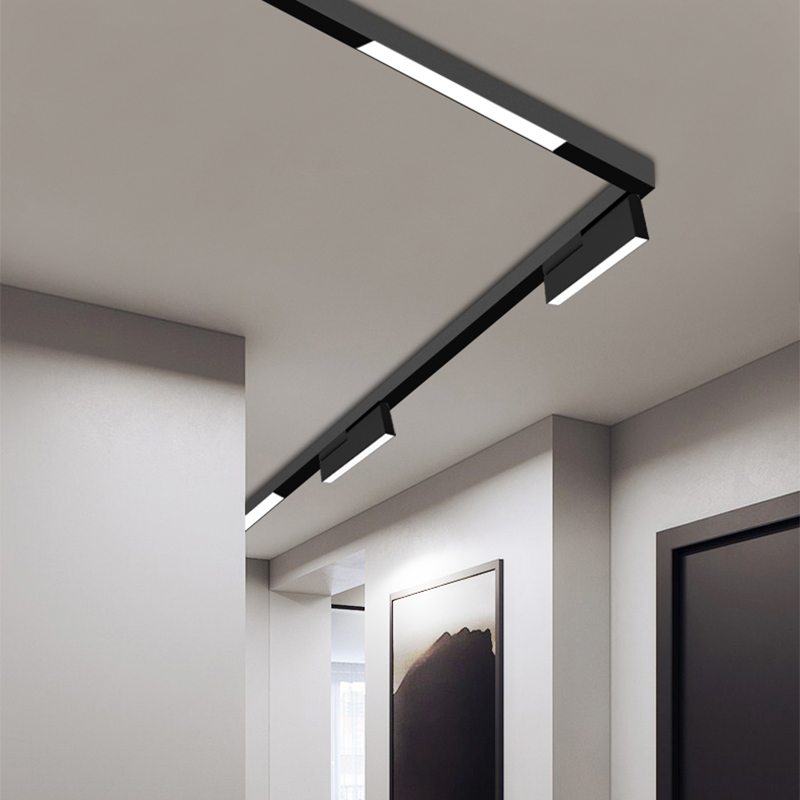 Surface Flush Mounted Creative Magnetic Lights Luminaire Linear Lamp 1M Indoor Smart Bluetooth Dimmable Led Light Track Lighting