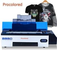 Procolored 새로운 8 색 DTF 프린터 A3 Tshirt 의류 가죽 후드 재킷 열 전송 애완 동물 필름 T 셔츠 인쇄 기계