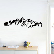 Mountain range carved Wall Sticker for Living room bedroom bed background decoration art decals door decor Pvc stickers