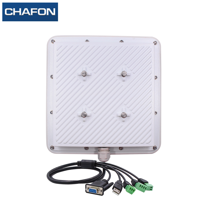 Image 2 - CHAFON 8M mid range uhf rfid integrated reader IP66 RS232 WG26 USB RELAY support firmware upgrade multiple language for parking-in Control Card Readers from Security & Protection