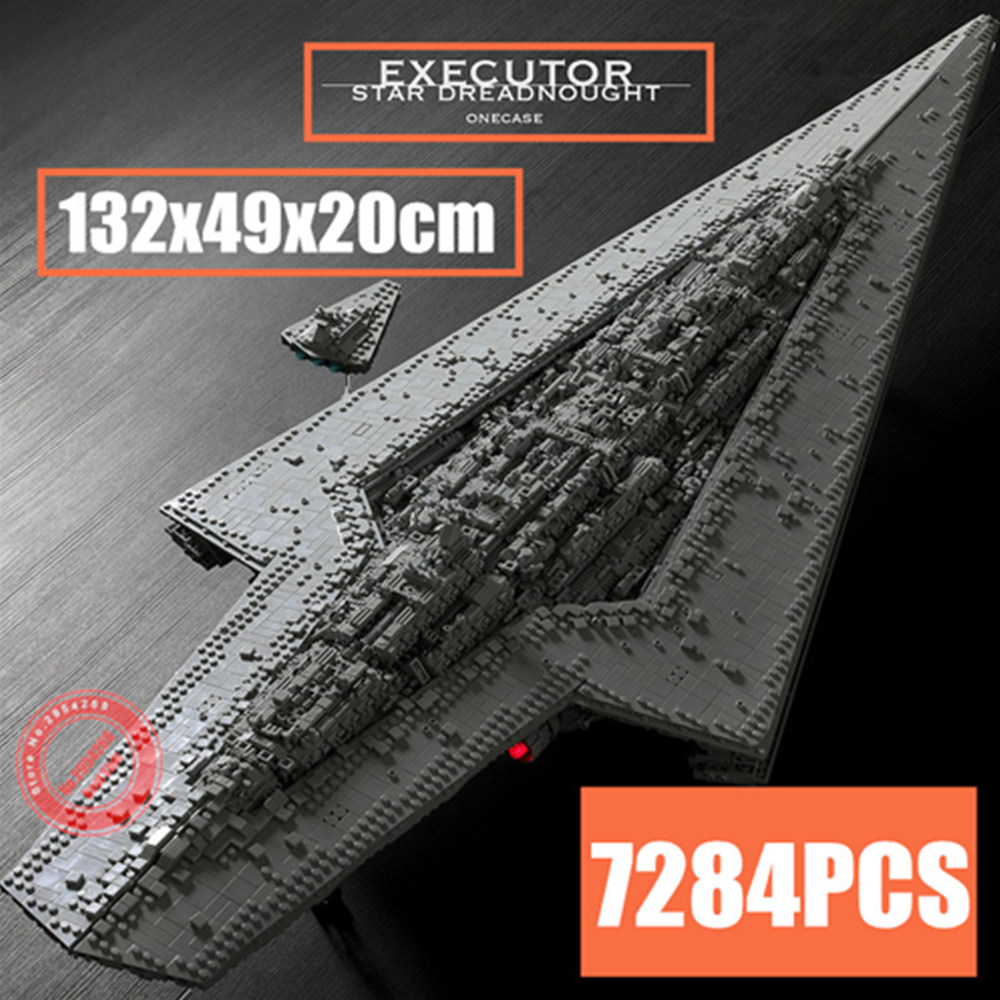 New Super Executor Class Star Dreadnought MOC-15881 Fit Legoings Star Wars Technic Ship Model Building Block Bricks Toys Gifts