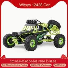 Wltoys 12428 50km/h alta velocidade rc carro 1/12 escala 2.4g 4wd rc fora de estrada rastreador rtr elétrico rc escalada carro brinquedo para crianças