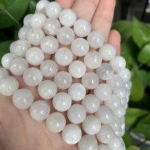 Aa alta qualidade natural pedra moonstone contas redondas soltas contas 6mm 8mm 10mm para fazer jóias diy colar pulseira 15 polegada