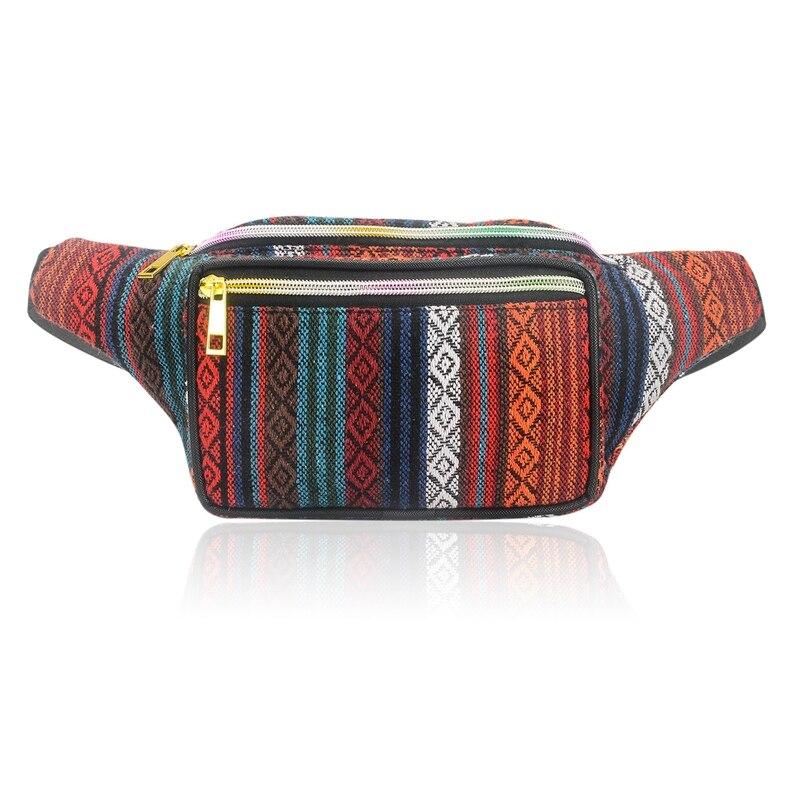 ABDB-Women Ethnic Fanny Pack Retro Vintage Bum Bags Travel Hiking Waist Belt Purse Fanny Pack For Women Waist Bag