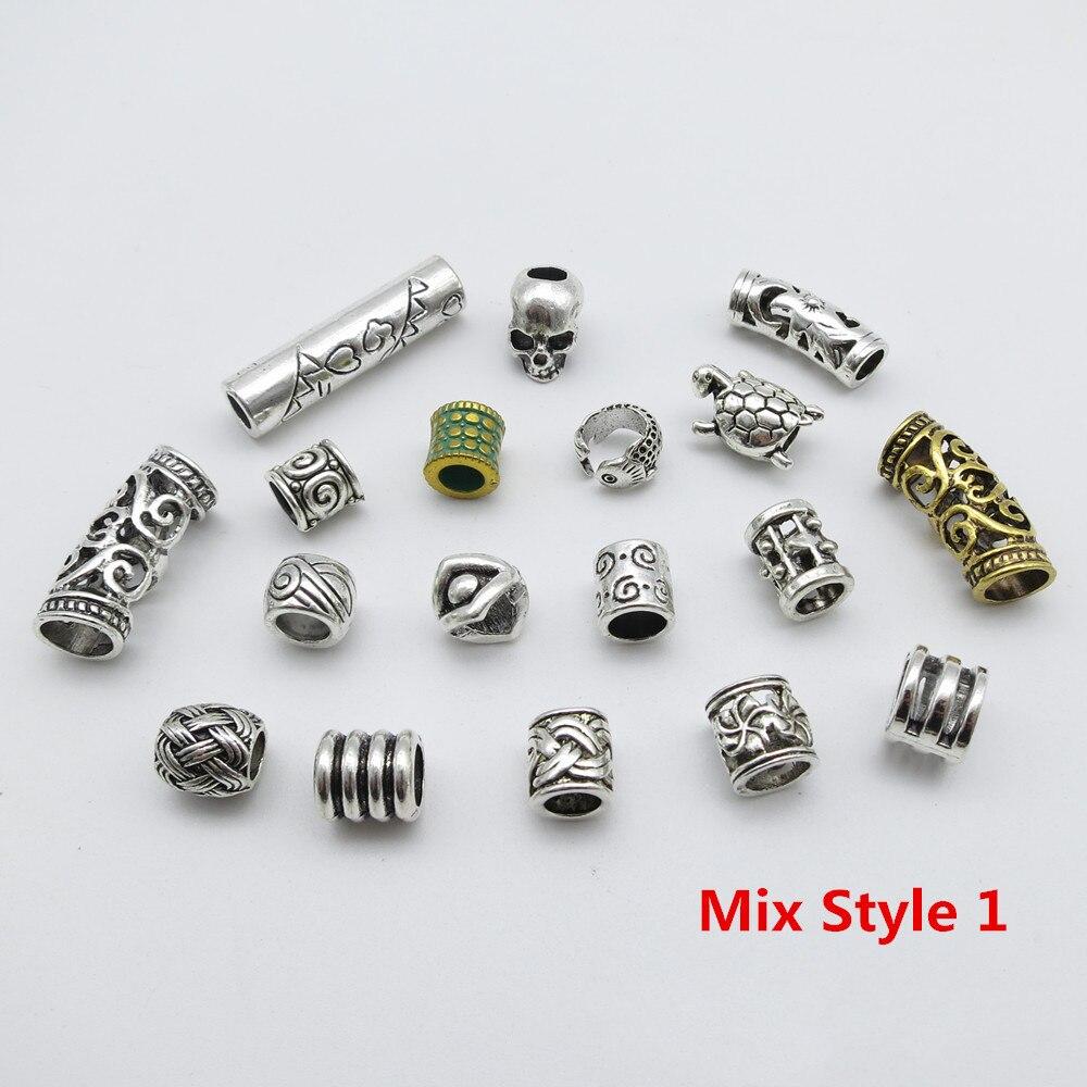 braid beard beads 7mm hole hair Stainless steel dreadlock beads dread