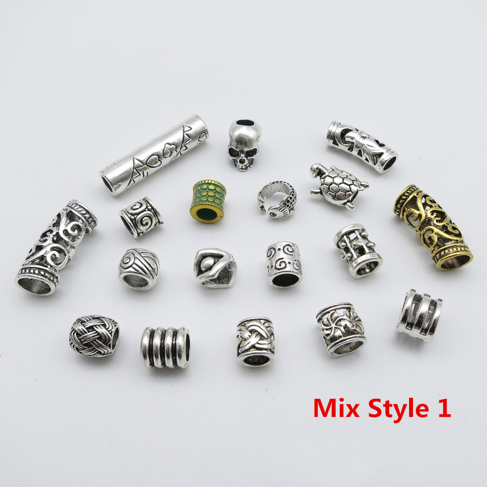 Dreadlock Art Sleeve FREE SHIPPING mixed Hole Sizes Set of 3 Focal Bead Jewelry Craft Supplies Hair Braid