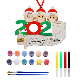 2020 Christmas Decoration Family DIY Name Blessing Creative Tree Gift Snowman Pendant Christmas J2M2 christmas decoration old man snowman elk christmas gift small pendant plush doll christmas tree pendant decoration