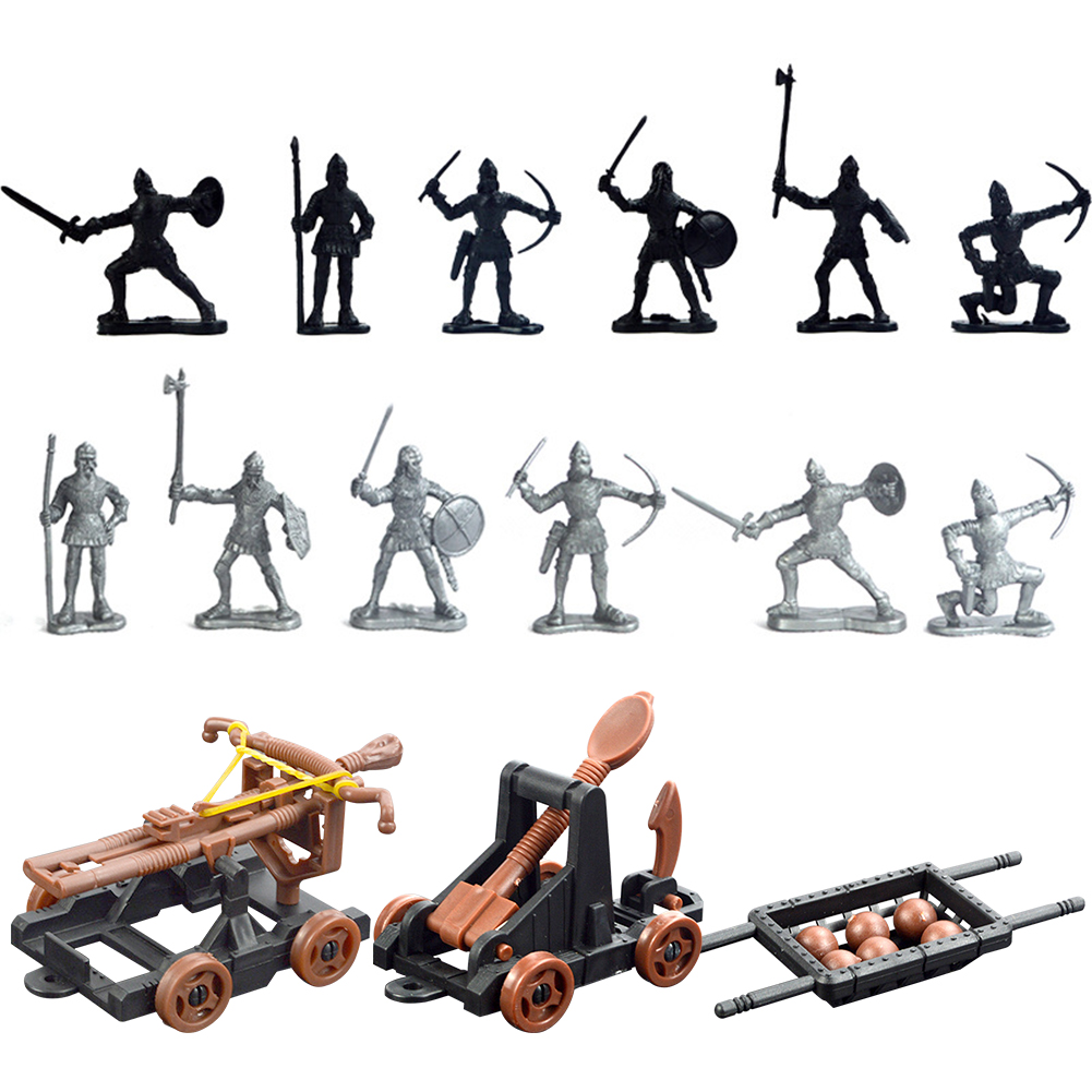 14pcs Military Army Model Action Toy Soldier Figure Set DIY For Children Adult Play Building Blocks Home Gift Medieval Knights