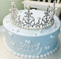 8 Inch Simulation Cake Model Crown Queen Birthday Cakes Model Pearl European Fake Cake Decoration For Baking Mold