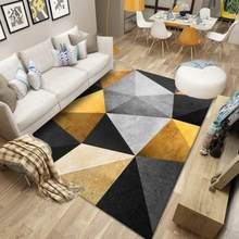 Modern Geometric Pattern Carpet for Bedroom Living Room Parlor Coffee Table Large Area Rugs Anti-Slip Washable Home Decor Mat