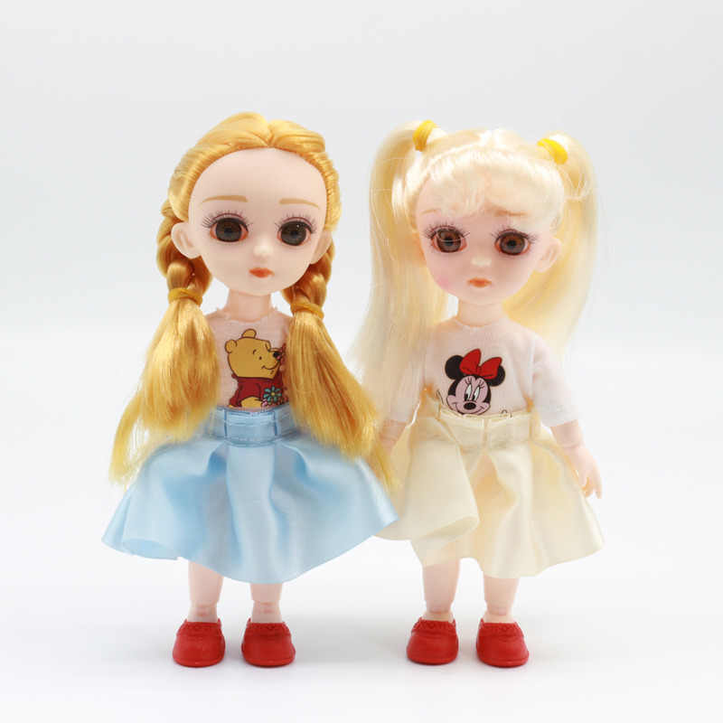 5 Pcs Fashion 1//6 BJD with Hair Movable 12 Ball Jointed Female Dolls DIY Toy