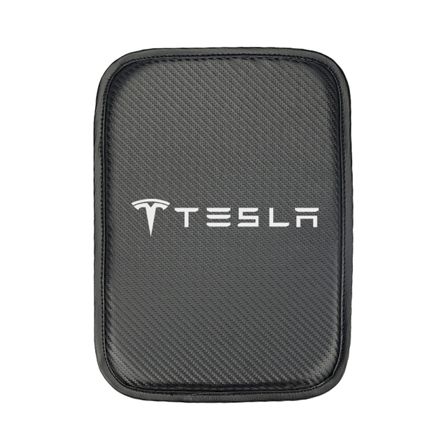 Car Armrest Pad Covers Auto Armrests Storage Protection Cushion for Tesla model 3 model X Y style Roadster Accessories 2