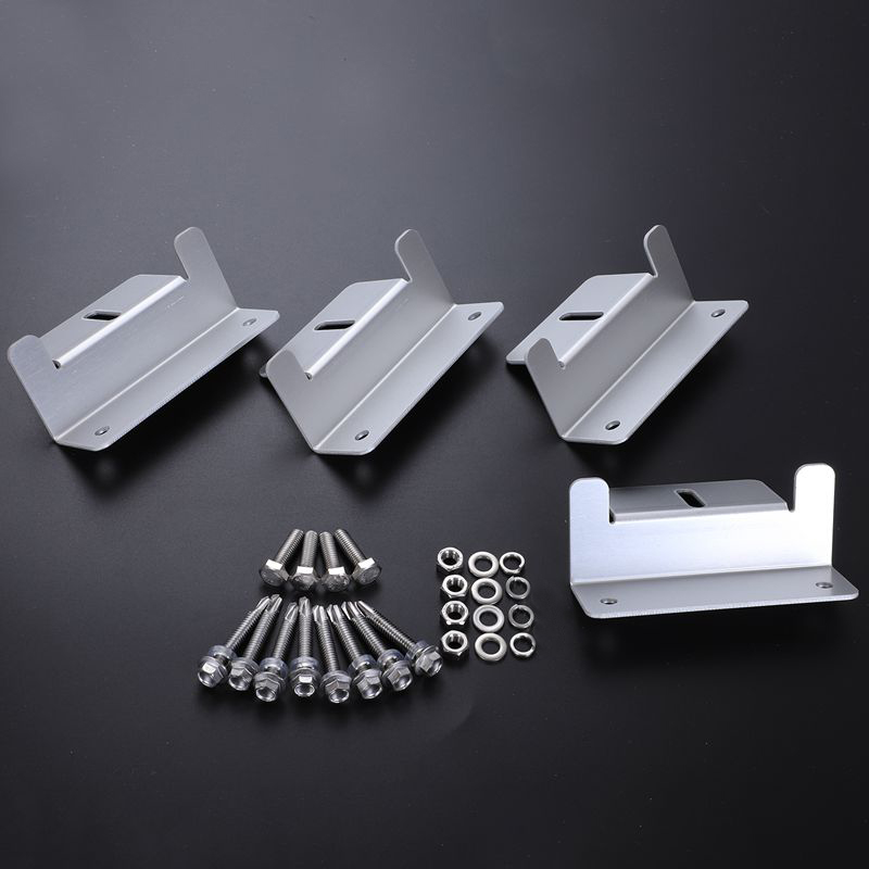 4pcs/set Metal Solar Panel Mounting Bracket Set Z-shaped Aluminum Roof Bracket Carvan Solar System Installation Accessories