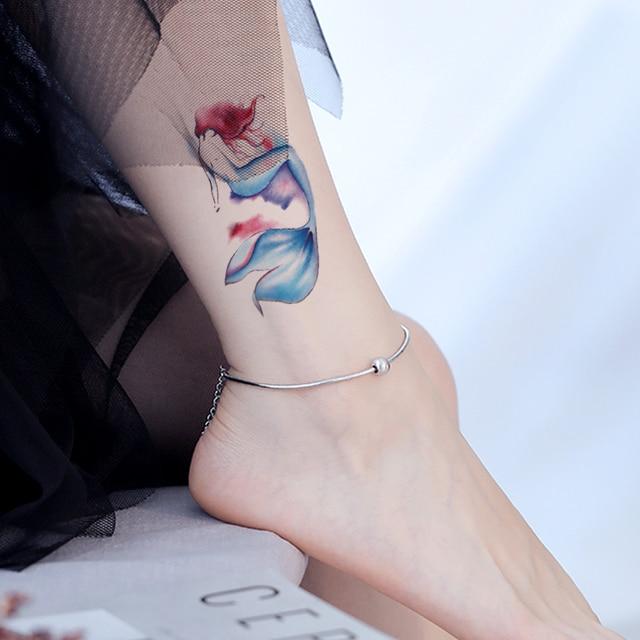 Tatouage temporaire autocollant poisson rouge poisson élément eau animal faux tatoo flash imperméable tatto pour enfant fille homme femme