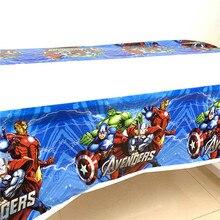 Disney Мстители Капитан Америка 1,1*1,8 м украшение на день рождения Детские товары одноразовая посуда скатерть для будущей мамы