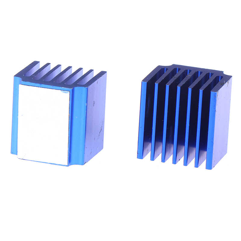 2 uds. Controlador paso a paso de aluminio azul disipadores térmicos con adhesivo para TMC2100 LV8729 piezas de impresora 3D 15*14,5*13mm