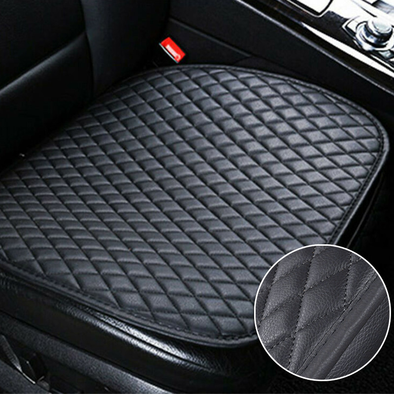 1Pcs Interior Cars Auto Black Backless Seats Faux Leather Covers Replacements