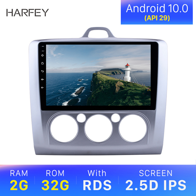 Harfey Car Radio 9 inch GPS Car Stereo Android 10.0 USB car <font><b>Multimedia</b></font> Player For <font><b>ford</b></font> <font><b>focus</b></font> EXI MT 2 3 <font><b>Mk2</b></font>/Mk3 2007 2008-2010 image