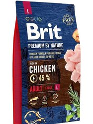 Food Brit premium by nature adult L adult dogs large rocks, chicken, 8 kg.