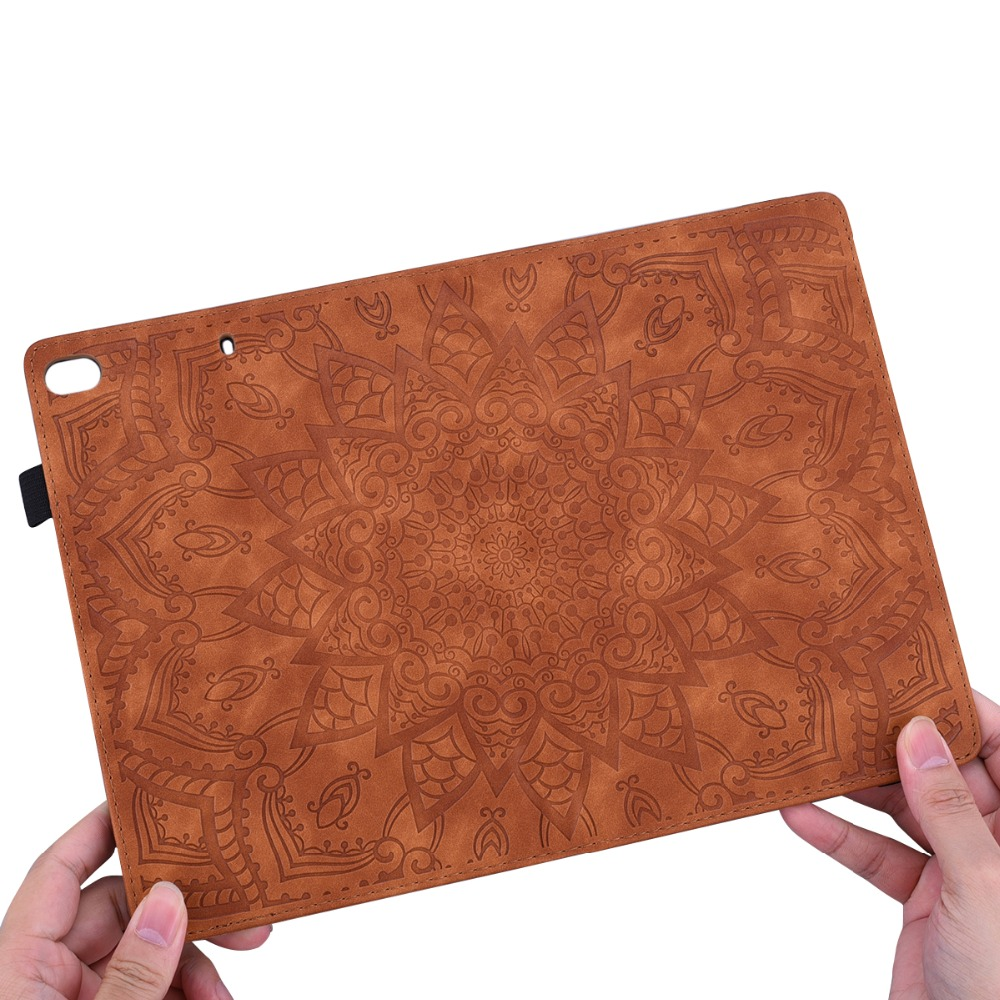 Flower For iPad Embossed Pro Generation Cover Folding 12.9 3D 4th Case Leather 2020