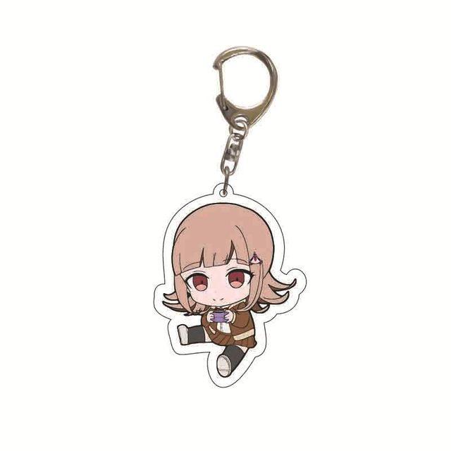 Danganronpa Double Sided Acrylic Keychain Fans Collection Anime Game Figures Nanami ChiaKi Nagito Komaeda Key Chain Cute Trinket 3