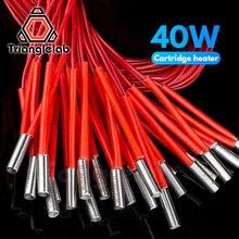 Cartucho calentador Trianglelab 3D 6*20MM 12V/24V 40W con cable de 100CM para impresora 3D para volcán PT100 HOTEND MK8 MK9