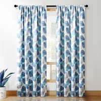 CDIY Floral Blackout Curtains For Living Room Bedroom Modern Window Curtain For Kitchen Curtain Thick Curtains Drapes 85%shading