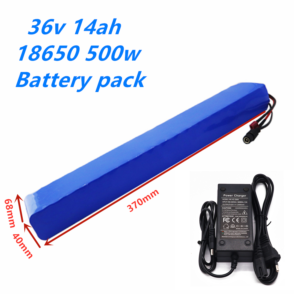 36V 10S4P 14Ah 500W High power&capacity 42V <font><b>18650</b></font> lithium battery pack ebike electric car bicycle motor scooter 20A BMS+charger image