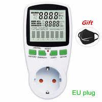 Wattmètre numérique compteur d'énergie compteur de puissance LCD puissance en watts électricité KWH mesure prise de mesure analyseur de puissance ue US AU royaume-uni