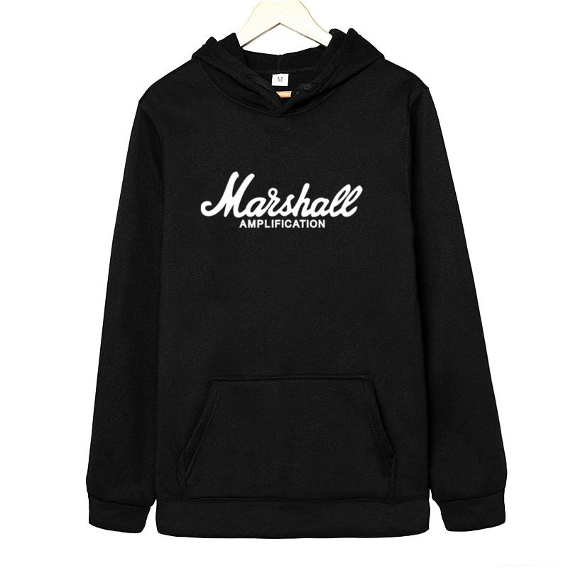 Marshall Sweatshirt Logo Amps Amplification Guitar Hero Hard Rock Cafe Music Hoodies And Sweatshirts Fashion Leisure Men Hoodie