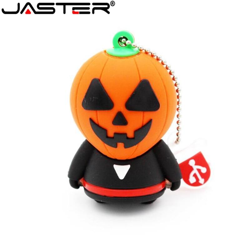 Free Shipping Horrific Ghost USB Flash Drive Pen Drive Cartoon U Disk Memory Stick Pendrive 4GB 8GB 16GB 32GB Halloween Gifts