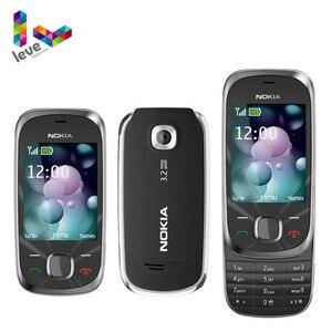 Разблокированный Мобильный телефон Nokia 7230 Slide 3G мобильный телефон с поддержкой клавиатуры иврит и русский и арабский языки Bluetooth FM JAVA MP3 б/у