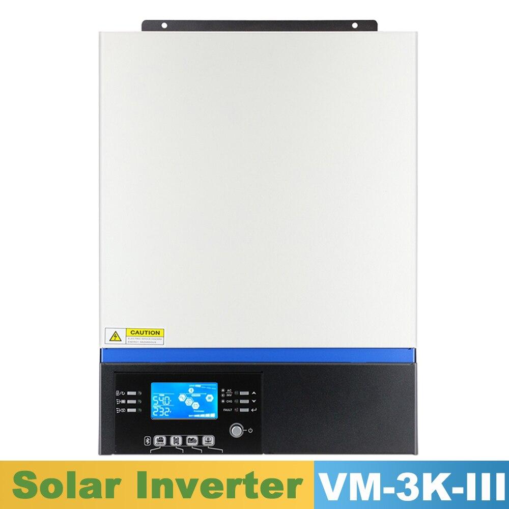 powmr 3kw onda senoidal pura inversor solar mppt 80a painel solar carregador e ac carga 230vac
