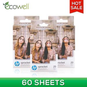 Ecowell compatible for HP Sprocket & Sprocket 2-in-1 for Mini Photographic Paper Pocket Photo Printer Zink Paste Photo Paper