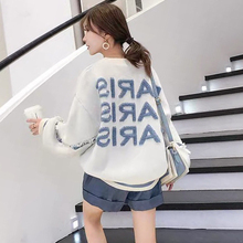 Women Korean Style Sweater and Pullovers O neck tassel Letters Printed Pull Jump