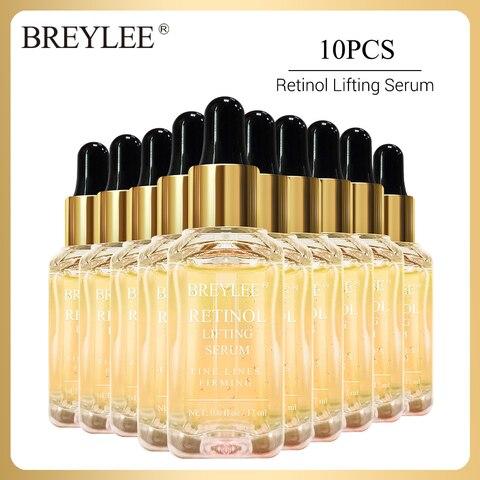 breylee 10 pcs soro facial retinol colageno anti envelhecimento endurecimento levantamento rosto essencia hidratante apertar