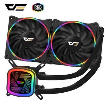 darkFlash PC Case Water Cooling Computer CPU Cooler RGB Water Cooler Heatsink CPU Cooling Radiator LGA 1151/1155/2011/AM3+/AM4