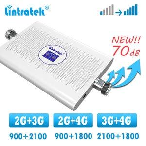Image 1 - Lintratek 2g 3g 4g усилитель сигнала, двухдиапазонный сотовый ретранслятор GSM WCDMA 900 2100 1800 DCS LTE 4G усилитель сигнала
