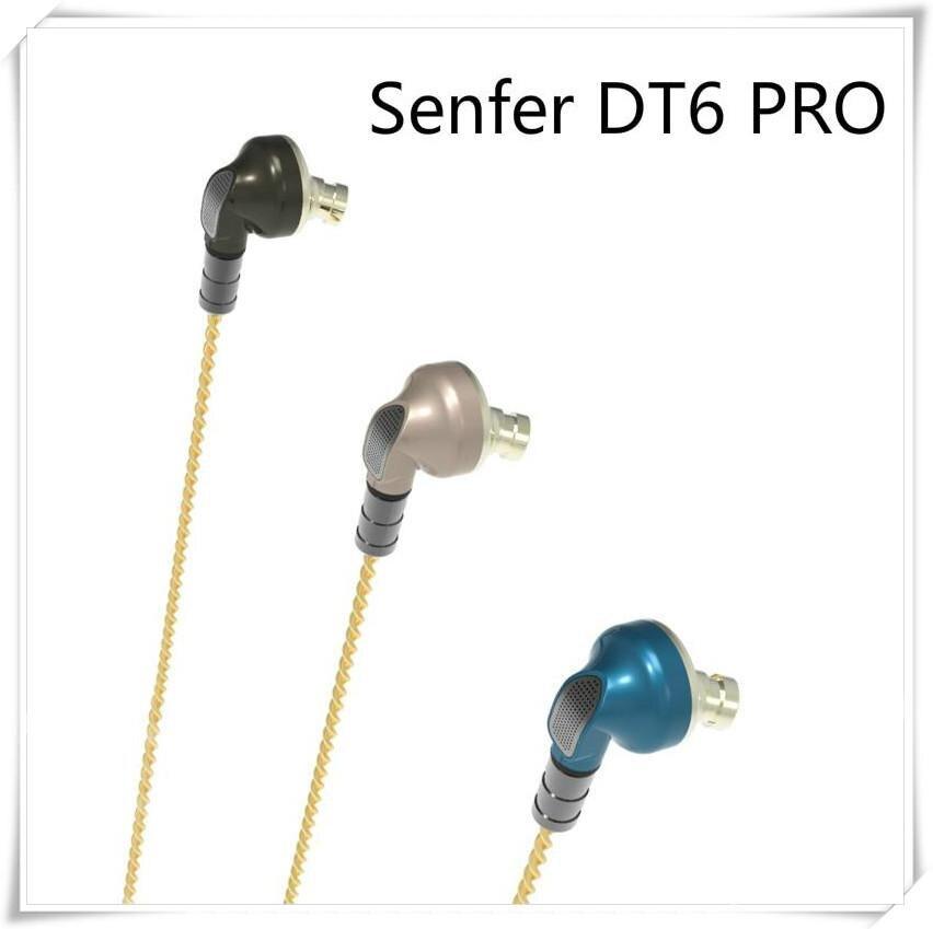 SENFER DT6 PRO 2BA+1DD Piezo Hybrid In Ear Earphone HIFI Running Sports Earplug Earbud Detachable Cable PT25 PT15 DT8 T2 ZST V80