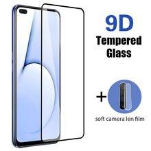 Protetor de lente traseira para realme x7 pro 7 5g 6i 6 s 6 s 7i 2 em 1 vidro protetor 9d cobertura completa vidro temperado para realme 7 pro
