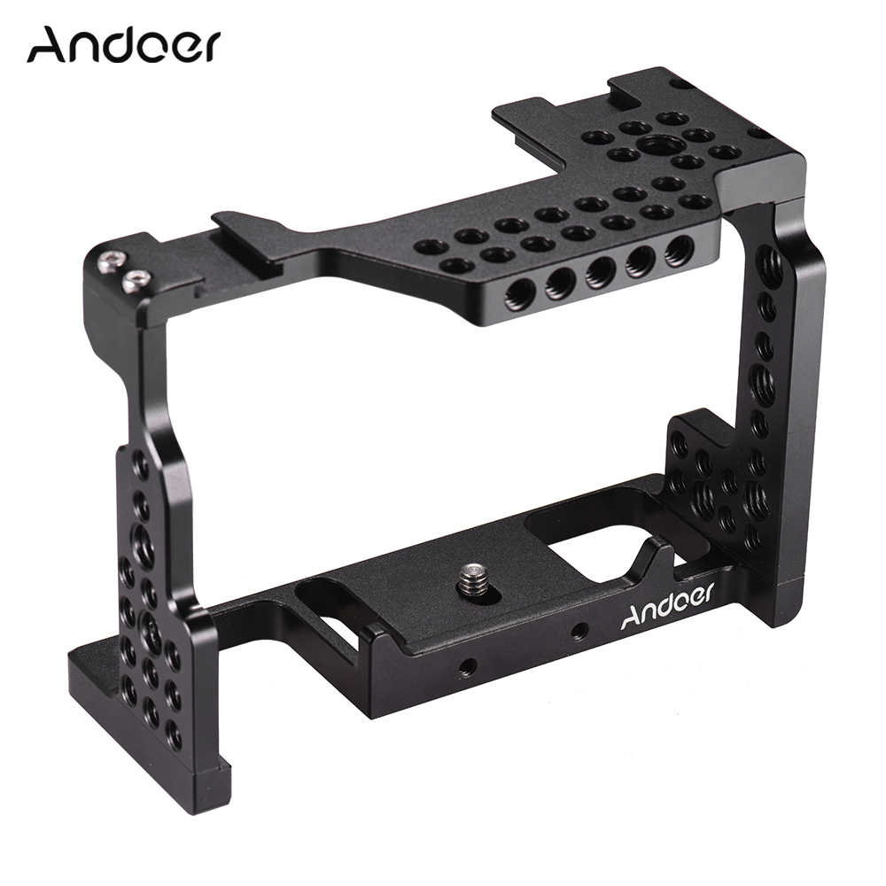 "Andoer Aluminium Camera Kooi Video Stabilizer 1/4 ""Schroef Met Koud Shoe Mount Voor Sony A7II/A7III/ a7SII/A7M3/A7RII Camera"