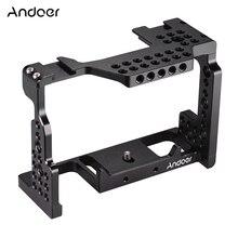 """Andoer estabilizador de vídeo de jaula de cámara de aleación de aluminio tornillo de 1/4 """"con soporte de zapata fría para cámara Sony A7II/A7III/A7SII/A7M3/A7RII"""