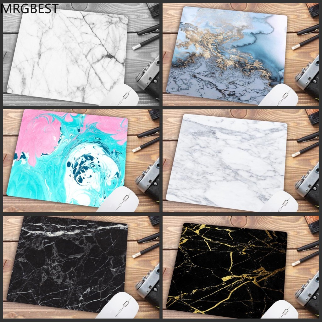 MRGBEST Big Promotion Marble Keyboard Mat Desk  Durable Desktop Mousepad Rubber Gaming Small Mouse Pad Computer 22X18CM