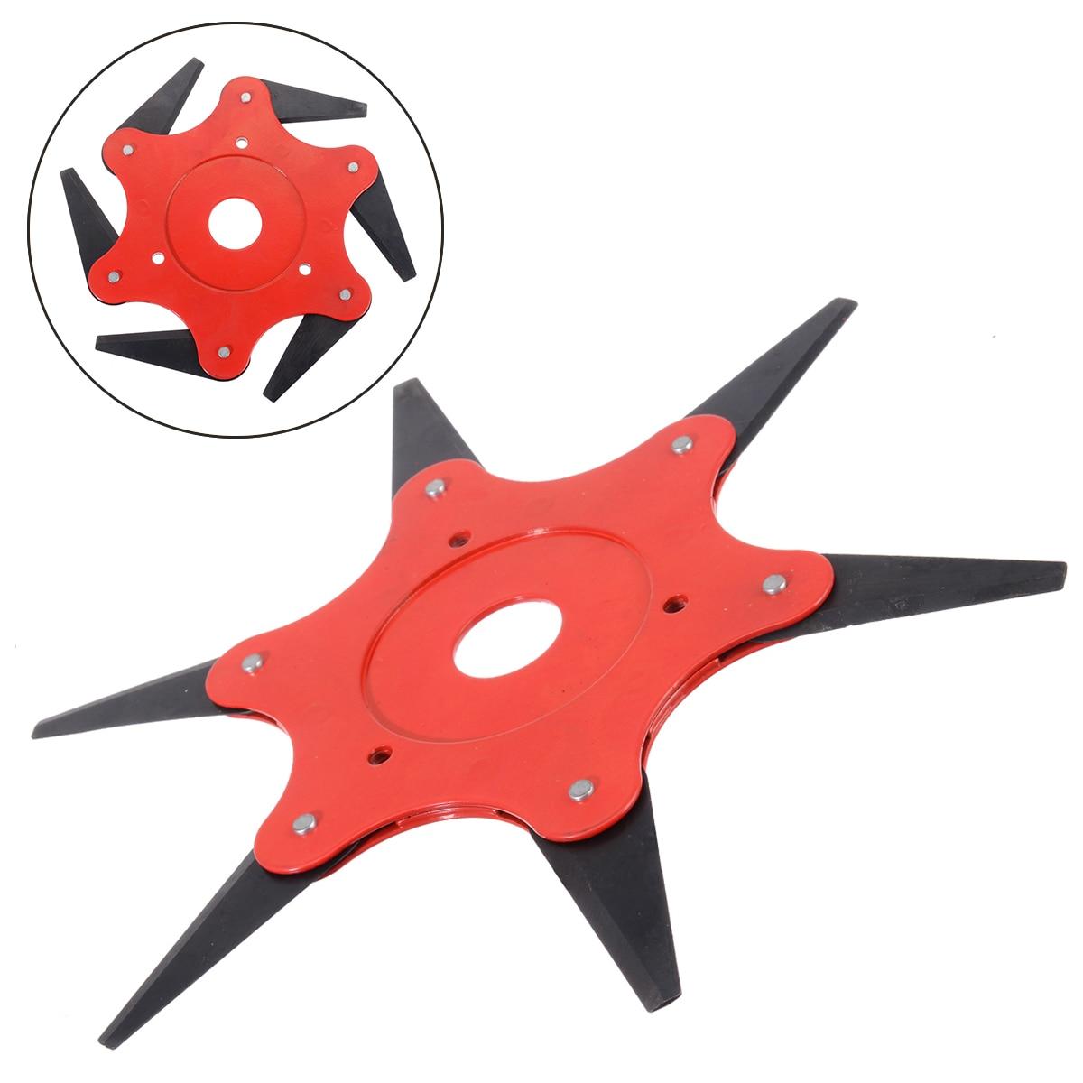 6 Blades Grass Trimmer Head 65Mn Brush Cutter Weed Brush Cutting Head Easy Cutting Garden Power Tool Accessories