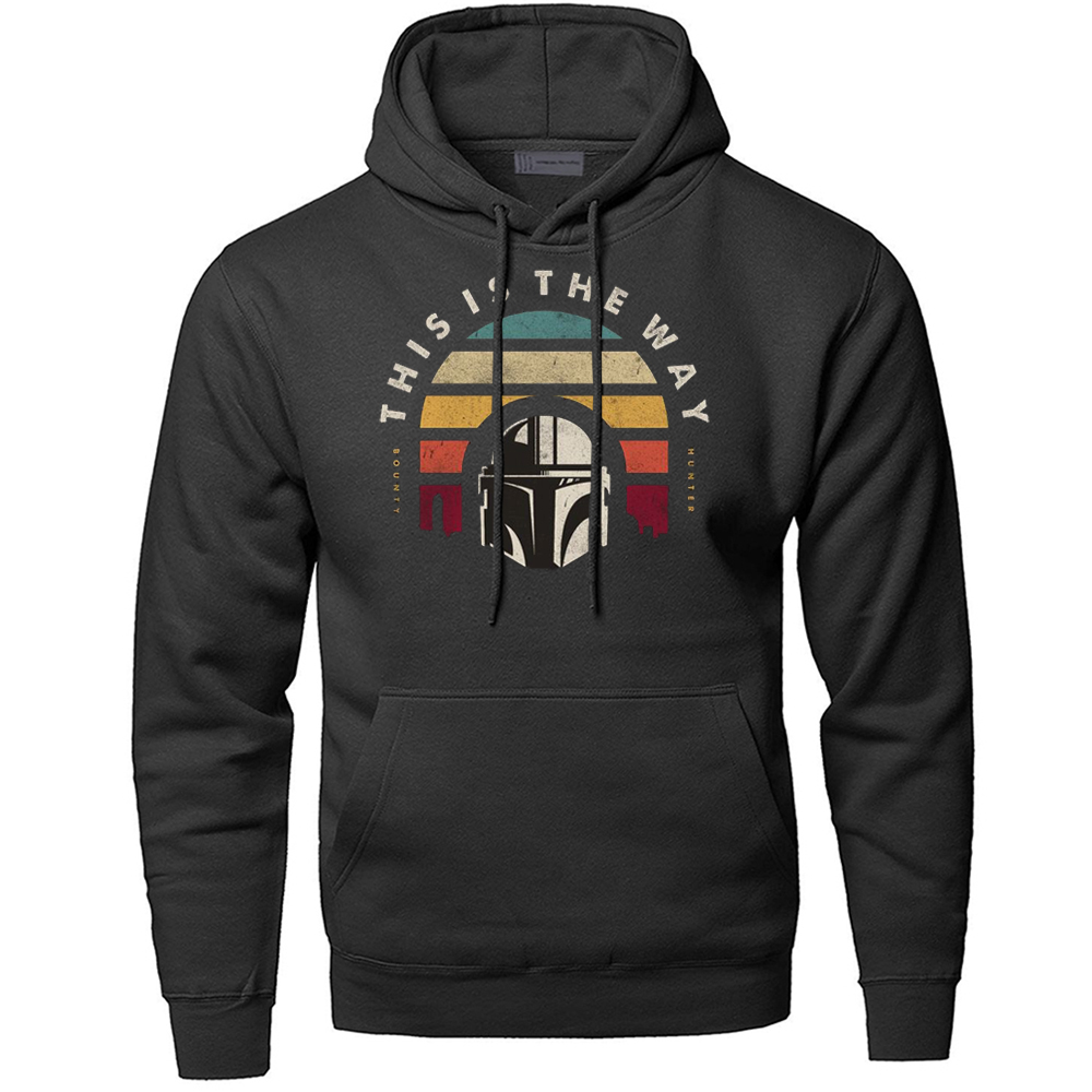 This Is The Way The Mandalorian Hoodies Men Star Wars Sweatshirt Hoody Hoodie Sweatshirts Starwars Pullover Skywalker Streetwear